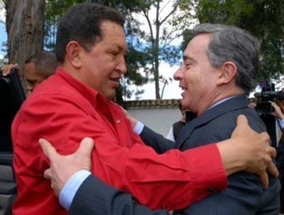 Uribe en Chávez weer 'on speaking terms'